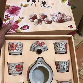 Bộ tách trà hoa văn nhậtt giá sỉ