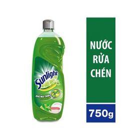 Nước rửa chén Sunlight Trà xanh khử mùi tanh chai 750ml x 15 chai giá sỉ