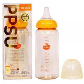 Bình sữa cổ hẹp chống sặc Wesser nhựa PPSU 250ml giá sỉ