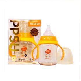 Bình sữa cổ rộng chống sặc Wesser nhựa PPSU 180ml giá sỉ
