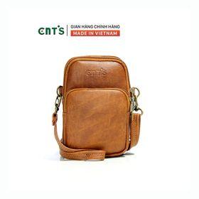 Túi đeo chéo đựng điện thoại nữ CNT TĐX59 xinh xắn bò đậm giá sỉ