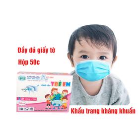Khẩu trang y tế trẻ em kháng khuẩn Phúc Anh hộp 50c giá sỉ