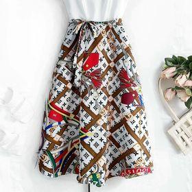 Đầm tùng xoè vải voan lụa 2 lớp dày giá sỉ