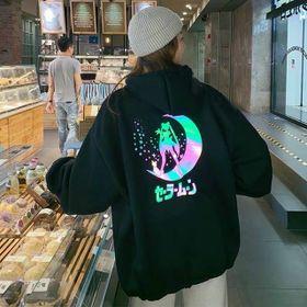 Áo hoodie in phản quan thuỷ thủ mặt trăng đẹp giá sỉ