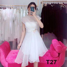 đầm trắng công chúa giá sỉ
