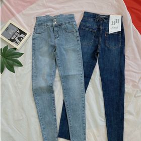 Quần jeans nữ lưng cao giá sỉ