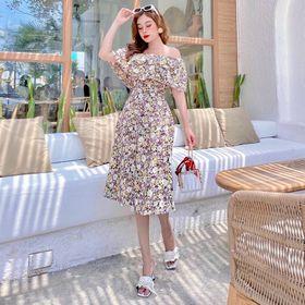 váy hoa trễ vai mùa hè 2021 giá sỉ