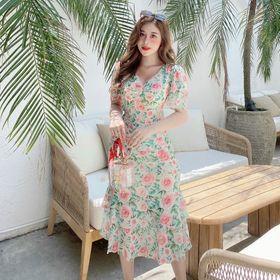 váy hoa dáng dài cho mùa hè mát mẻ giá sỉ