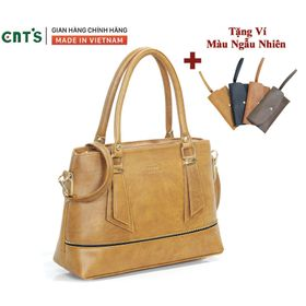 Túi xách nữ công sở thời trang CNT TX41 cao cấp (Kèm ví) BÒ LỢT giá sỉ
