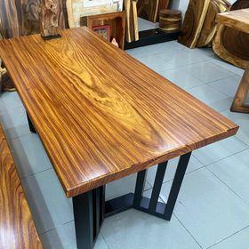 Mặt bàn ăn, bàn làm việc gỗ tự nhiên nguyên tấm dài 1,5 x 75 x 5 giá sỉ