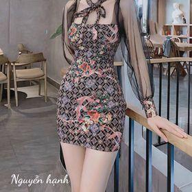 Đầm body họa tiết kiểu giá sỉ
