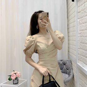Váy vạt dúm eo tay cộc giá sỉ