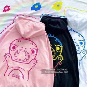 Áo hoodie chống nắng mưa thun nỉ ngoại nón 2 lớp giá sỉ