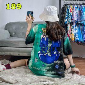 Áo loang màu, áo thun free size nam nữ giá sỉ