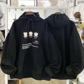 Áo hoodie thun nỉ ngoại in hoạt hình 3 ông già nón 2 lớp giá sỉ