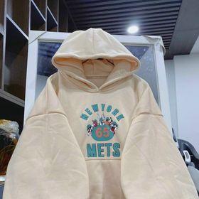 Áo hoodie nỉ ngoại tay phòng nhúng in 65 nón 2 lớp giá sỉ