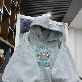 Áo hoodie nỉ ngoại tay phồng nhúng in 65 nón 2 lớp rõ đẹp giá sỉ