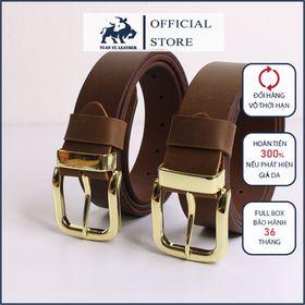 Thắt lưng nam khóa kim da thật - Dây Nịt khóa kim cho công sở - phù hợp với quần jean và quần âu giá sỉ
