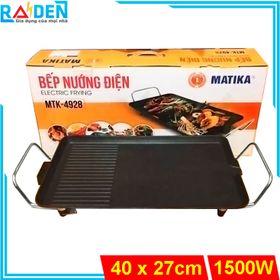 Bếp nướng điện chống dính 1500W Matika MTK-4928 khay hứng dầu rời giá sỉ