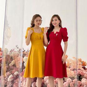 váy màu kèm phụ kiện giá sỉ