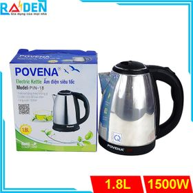 Ấm siêu tốc inox 1.8L Povena PVN-18 giá sỉ