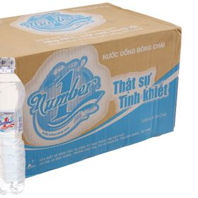 Nước uống tinh khiết Number One 500ml x 24 chai giá sỉ