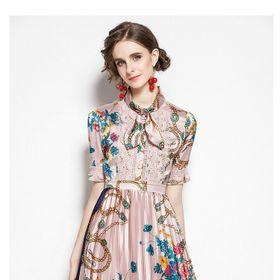 Đầm lụa xoè xếp ly chất đẹp - Kho sỉ giá sỉ
