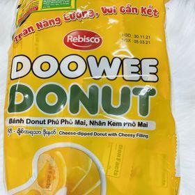 Bánh donut DOOWEE phủ phô mai, nhân kem phô mai giá sỉ