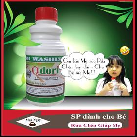 Nước rửa chén 500mL Organic Odori. SP Thân thiện dành cho Bé giúp Mẹ việc rửa chén bát giá sỉ