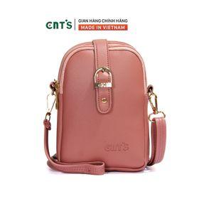 Túi đeo chéo đựng điện thoại nữ CNT TĐX60 nhiều màu dễ thương HỒNG RUỐC giá sỉ