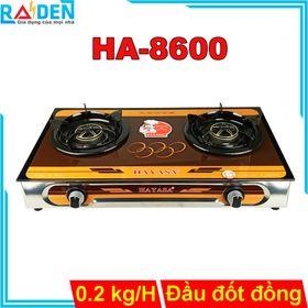 Bếp ga đôi Hayasa HA-8600 đầu đốt đồng, điếu inox, kiềng có vòng chắn gió và cao su chống lan nhiệt giá sỉ