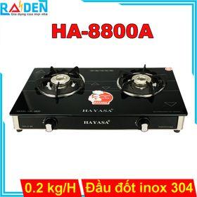 Bếp ga đôi Hayasa HA-8800A đầu đốt inox 304, kiềng gang dày chắc chắn giá sỉ
