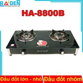 Bếp ga đôi Hayasa HA-8800B đầu đốt nhôm với 2 kích thước khác nhau, có vòng chắn gió giá sỉ