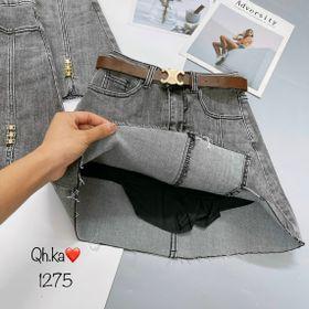 Chân váy jeans tua gấu giá sỉ