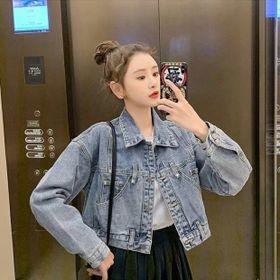 Áo khoác jean nữ túi kiểu đẹp giá sỉ