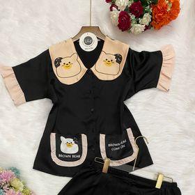 Xưởng may quần áo ngủ pizama tiểu thư in 3d Gấu Đùi giá sỉ