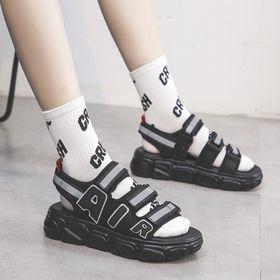 Sandal AIR 3 Nữ 3 Quai Viền Phản Quang Kiểu Dáng Hàn Quốc đế cao 4cm đi học đẹp bền giá sỉ
