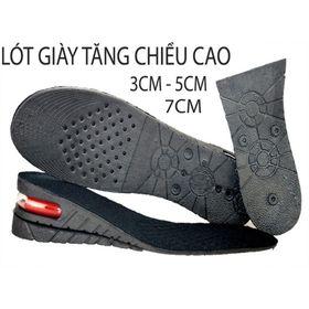 [Mã FASHIONXANH264 giảm 10K đơn 50K] Đế lót giày tăng chiều cao màu đen (1 đôi) 3cm-5cm-7cm tự cắt size giá sỉ