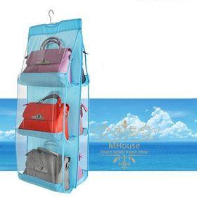 Túi treo giỏ xách chống bụi 6 ô đa năng giá sỉ