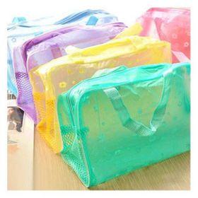 Bộ 2 túi đựng mỹ phẩm trong suốt nhiều màu giá sỉ