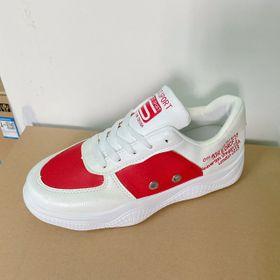 Xả kho - Giày sneaker nữ Da tổng hợp dày hàng chuẩn đẹp - Đỏ giá sỉ