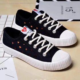 Giày thể thao, Giày sneaker thể thao nữ vải tổng hợp dày dặn 5256 giá sỉ