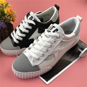 Giày thể thao, Giày sneaker nữ vải lưới phối da tổng hợp dày dặn A858 giá sỉ