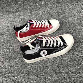 Giày thể thao, Giày sneaker thể thao nữ vải phối da tổng hợp dày dặn 217 giá sỉ