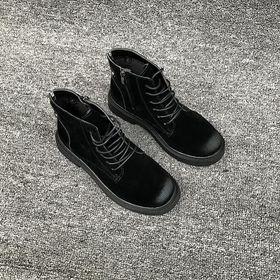 Giày thể thao, Giày sneaker cổ cao nữ vải phối da tổng hợp dày dặn - 5282 giá sỉ