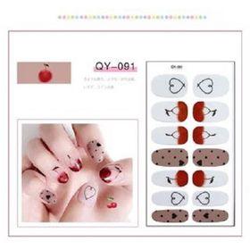 Sticker Dán Móng Tay set 14 miếng siêu xinh tiện lợi không thấm nước Nail Decals giá sỉ