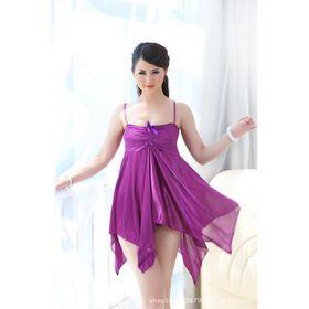 Đầm ngủ thun bóng xếp ly quyến rũ sang trọng - 1130 giá sỉ