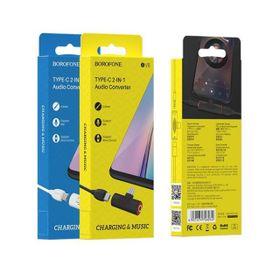 Bộ Chuyển Đổi Âm Thanh Borofone BV8 - USB-C sang USB-C & jack 3,5mm giá sỉ