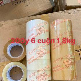 1 cây 6 cuộn Băng keo 200Y 1,8kg giá sỉ