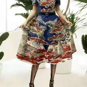 Đầm TK lụa siêu sang xinh đẹp giá sỉ